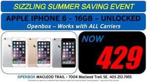 APPLE IPHONE 6 16-32-64 GB Factor y Unlocked With Warranty