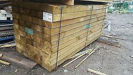 Railway Sleepers - New, Oak