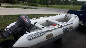 Zodiac style inflatable with a johnson 15 hp motor
