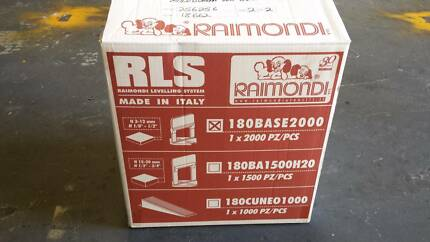 raimondi tile leveling system base clips pce box new