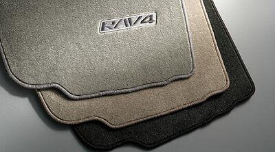 4 Piece Ash Gray Carpet Floor Mat Set for 06-12 Toyota Rav4-New, covid 19 (4 Piece Carpet Mat coronavirus)