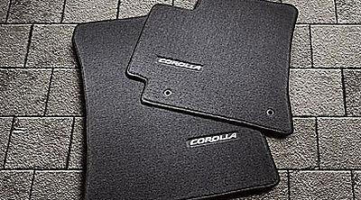 Toyota Corolla 2009 - 2013 Black Carpet Floor Mats - OEM NEW!