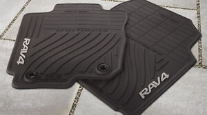 2007-2012 TOYOTA RAV 4 RAV4 NEW FACTORY GENUINE ALL WEATHER FLOOR MATS BLACK OEM