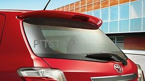 Toyota-Yaris-hatchback-OE-style-ABS-plastic-rear-roof-spoiler-color-painted