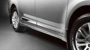 2011-2016 Toyota Sienna Lower Door Mouldings Chrome Finish