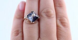 925 Sterling Silver & brass handmade sapphire topaz ring Cambridge Kitchener Area image 1