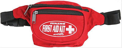 Hikers First Aid Fa130 Kit Red Nylon Fanny Pack W  Adjustable Waist Band