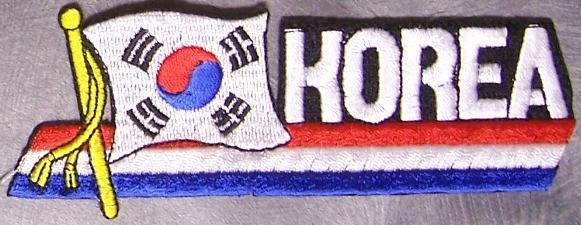 Embroidered International Patch National Flag of South Korea NEW streamer