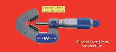 Wilson Wolpert 250-04i V-anvil Outside Micrometer