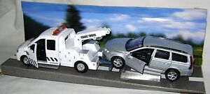 NEW TEAMSTERS CITY RECOVERY TOW TRUCK & SILVER CAR 1:32 DIECAST TOY MODEL BOXED