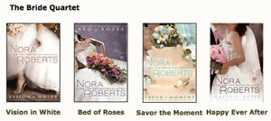 Books - Set of 4 - The Bride Quartet by Nora Roberts:  $10