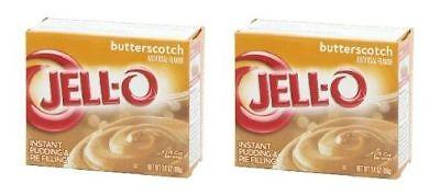 Jell-O Butterscotch Instant Pudding Dessert Mix 2 Box (Butterscotch Pudding)