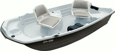 "NEW Sun Dolphin Pro 10.2 Two Seat 10'2"" Fishing Boat w/ Trolling Motor Mount"