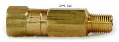 18 Inline Check Valve 3000 Male X Female Npt Brass Spring Loaded New 12er81