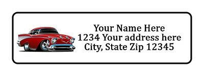 400 Red Hot Rod Personalized Return Address Labels 12 Inch By 1 34 Inch