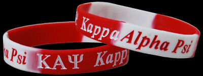 Set of 2 Kappa Alpha Psi Silicone Bracelets