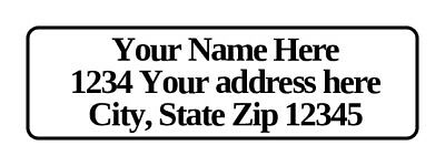 400 Personalized Return Address Labels. 12 Inch By 1 34 Inch