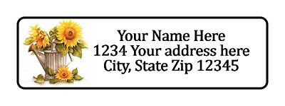 800 Sun Flower Can Personalized Return Address Labels. 12 Inch By 1 34 Inch