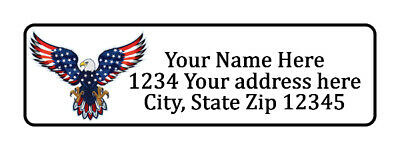 400 Bald Eagle Personalized Return Address Labels. 12 Inch By 1 34 Inch