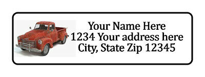 800 Old Red Truck Personalized Return Address Labels. 12 Inch By 1 34 Inch