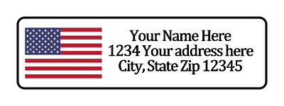 American Flag Personalized Return Address Labels 12 In By 1 34 In
