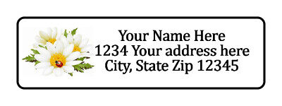 800 Flowers Ladybug Personalized Return Address Labels. 12 Inch By 1 34 Inch