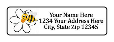 400 Bee Flower Personalized Return Address Labels. 12 Inch By 1 34 Inch
