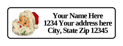 400 Santa Face Personalized Return Address Labels 12 Inch By 1 34 Inch