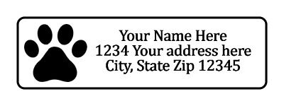 800 Dog Paw Print Personalized Return Address Labels. 12 Inch By 1 34 Inch