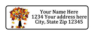 Fall Tree Personalized Return Address Labels 12 In By 1 34 In
