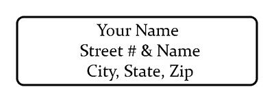 800 Personalized Return Address Labels. 12 Inch By 1 34 Inch