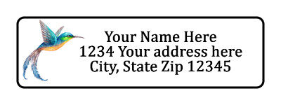 800 Hummingbird Personalized Return Address Labels. 12 Inch By 1 34 Inch