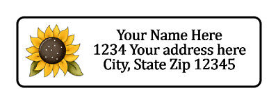 800 Big Sunflower Personalized Return Address Labels. 12 Inch By 1 34 Inch