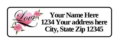 400 Love Hearts Personalized Return Address Labels 12 Inch By 1 34 Inch