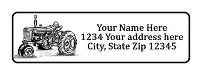 400 Old Tractor Personalized Return Address Labels 12 Inch By 1 34 Inch