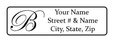 400 Personalized Return Address Labels. Monogrammed 12 Inch By 1 34 Inch