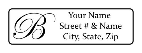 400 Personalized Return Address Labels. Monogrammed 1/2 inch by 1 3/4 inch