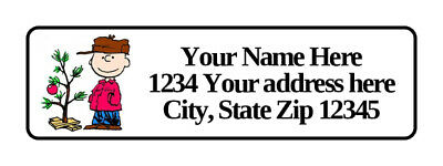 400 Charlie Brown Personalized Return Address Labels 12 Inch By 1 34 Inch