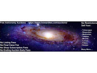 Astronomy Auctions - Free listings! no final value fees! keep 100%