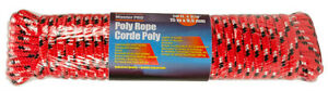 "Home Essentials Master Pro Poly Rope up to 400 lbs 50ft x 3/8"" R"