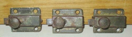 3 ANTIQUE HOOSIER CABINET CUPBOARD DOOR WORKING LOCKS