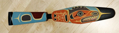 Northwest Coast BC Canada First Nations Indigenous Art Cedar RED SNAPPER Paddle