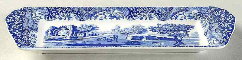 Spode Blue Italian  Rectangular Tray 9560828