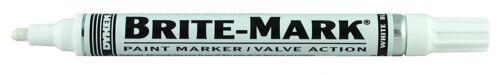 Dykem #84003 Brite Mark medium tip WHITE industrial paint marker