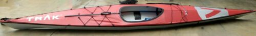 Trak 2.0 The Ultimate Touring Kayak, 16 Foot Portable Kayak, Red and Silver
