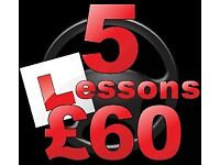 Driving instructor, Driving lessons FIRST 5x HOURS £60