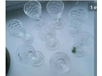 8 sherry/liquer crystal festive glasses