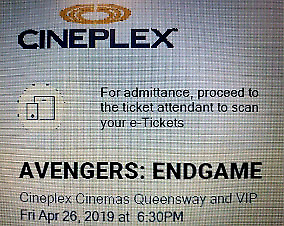 Avengers Endgame Toronto Opening Night Tickets