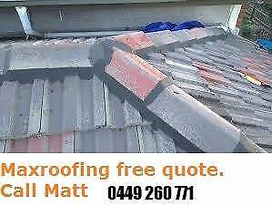Free Quote Roof Restoration   Re-bedding and Re-point Tile Roof