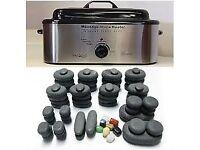 Hot stone massage set with heater